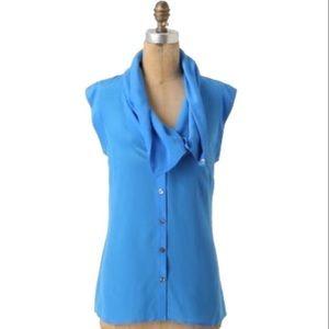 Anthropologie Fei Silk  Deuxhill Cowl blouse
